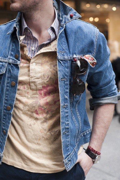 Mens jean jacket styling