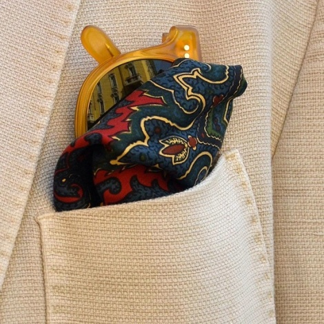 Summer style mens pocket square