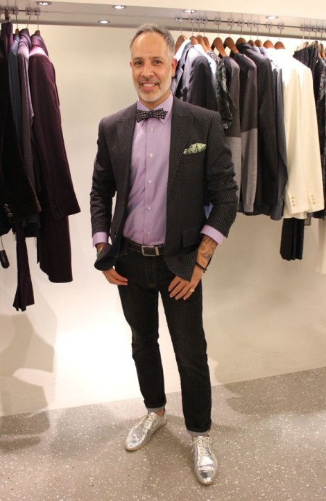 E. Vincent Martinez of Fashionado on Fashion's Night Out at Alexander McQueen
