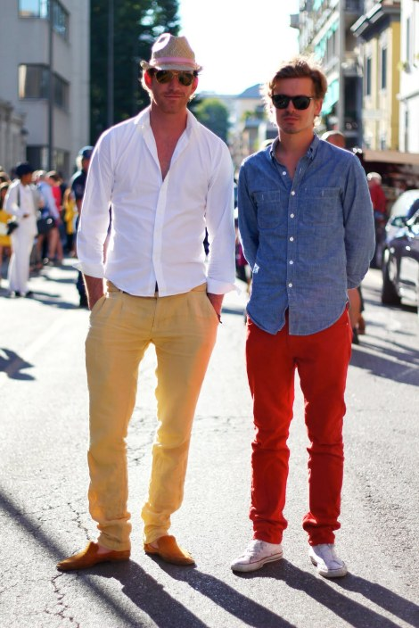 Mens Colored Pants Styling