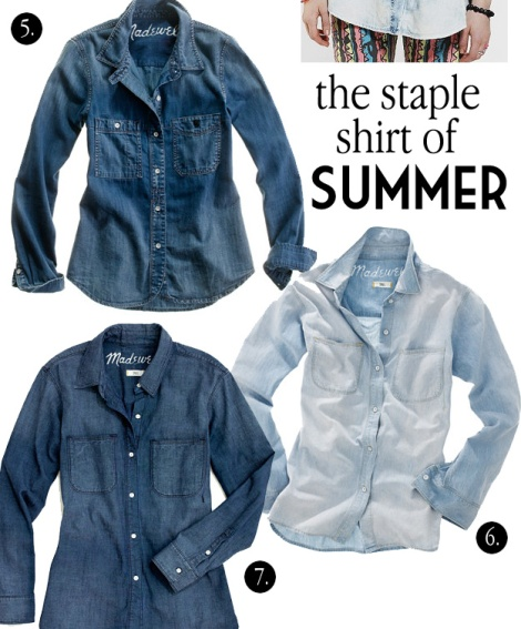 Madewell Chambray Shirts Perfect Ex Boyfriend Shirt